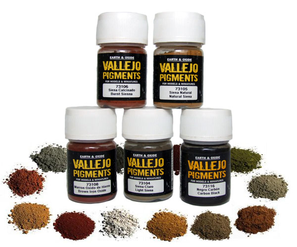 Vallejo pigmenty