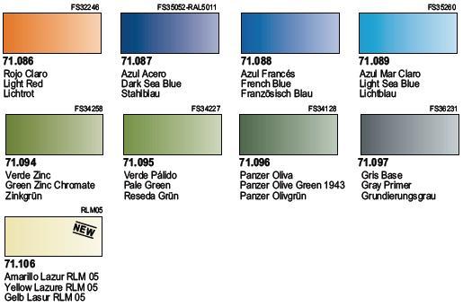 Vzorkovník Air Color