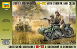 Soviet Motorcycle M-72 with Sidecar