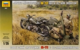 WWII M-72 Soviet Motorcycle w/Mortar