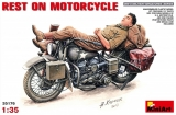 Rest On  Motorcycle