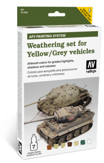 AFV Weathering set for Yellow - Grey vehicles