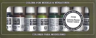 Model Color Set No 8 - Panzer Colors