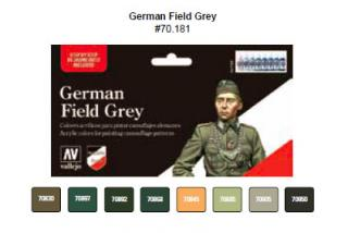Model Color Set No 81 - German Field Grey Uniform