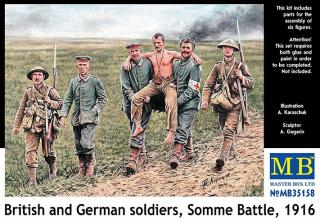 British and German soldiers,