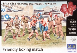 British and American paratroopers